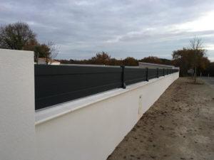 clôture aluminium après projet à Olonne sur mer