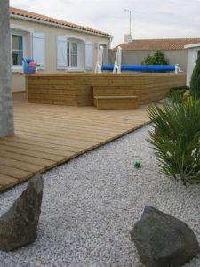 terrasse bois piscine bois vendée