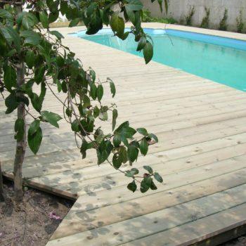 terrasse bois piscine olonne sur mer vendée