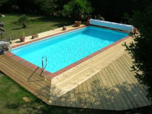 terrasse bois piscine vendée
