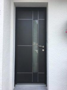 porte d'entrée en PVC vendée